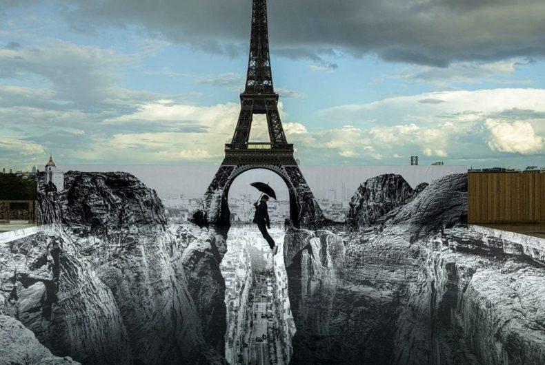 La nuova installazione di JR a Parigi