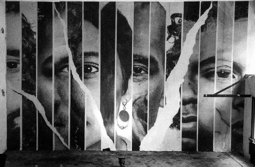 I collage e gli sguardi penetranti di Quentin DMR