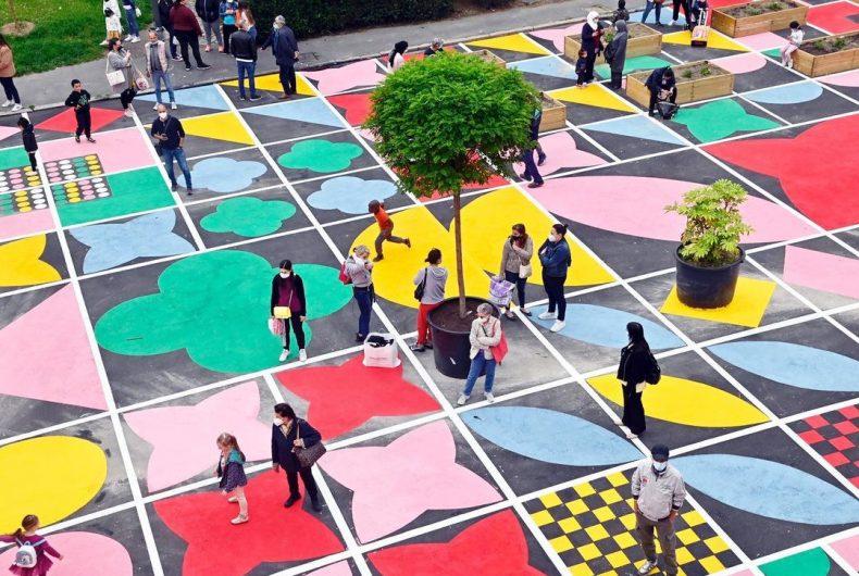 """Quadra"", la piazza d'arte di Serena Confalonieri  per Milano"