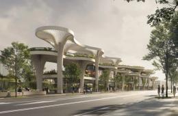 """""""Solar Trees Marketplace"""", il polo che fonde alberi veri e artificiali"""
