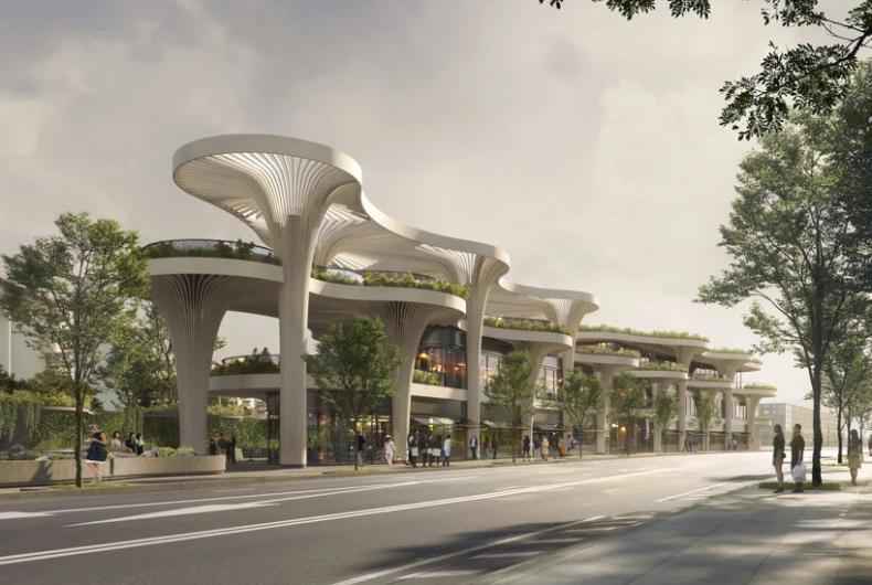 """Solar Trees Marketplace"", the sustainable hub for Shanghai"