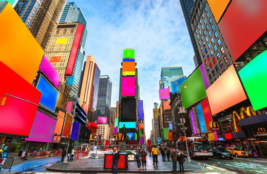"""Spectrum"", Cosimo Scotucci's installation for Times Square"