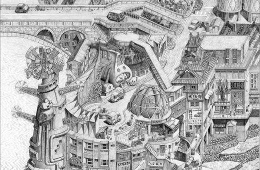 Il futuro sognato in passato nei disegni di Yota Tsukino
