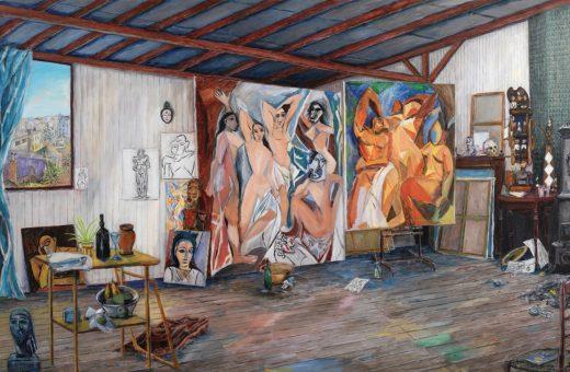 Damian Elwes, l'artista che dipinge gli studi dei pittori