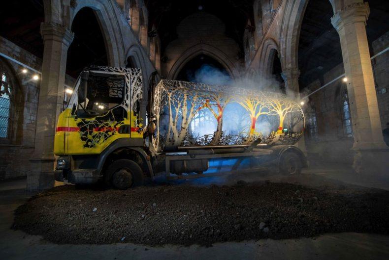 Dan Rawlings' carved truck in Scunthorpe church