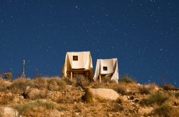 Ghost House, houses in the desert moved by the wind