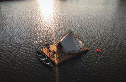 Vlotkamp, il campeggio galleggiante in Belgio