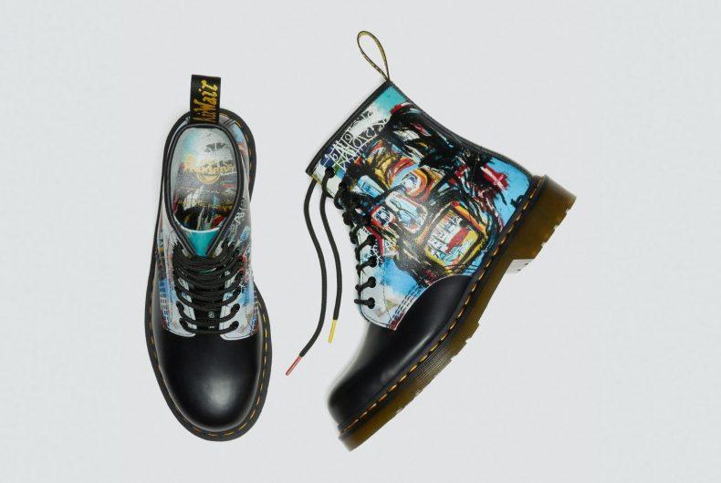 Arte e stile si fondono nella collezione Dr. Martens x Basquiat