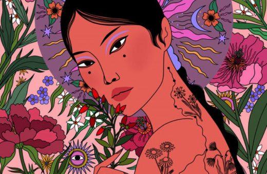 The exotic and feminine universe in Sasha Ignatiadou's illustrations