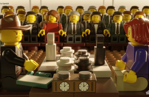 8 serie Netflix ricreate in LEGO