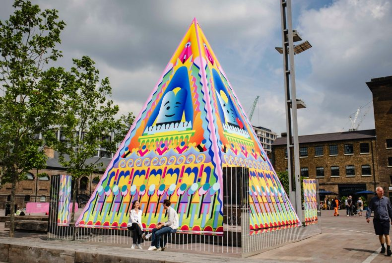 Adam Nathaniel Furman's multicoloured pyramid in King's Cross