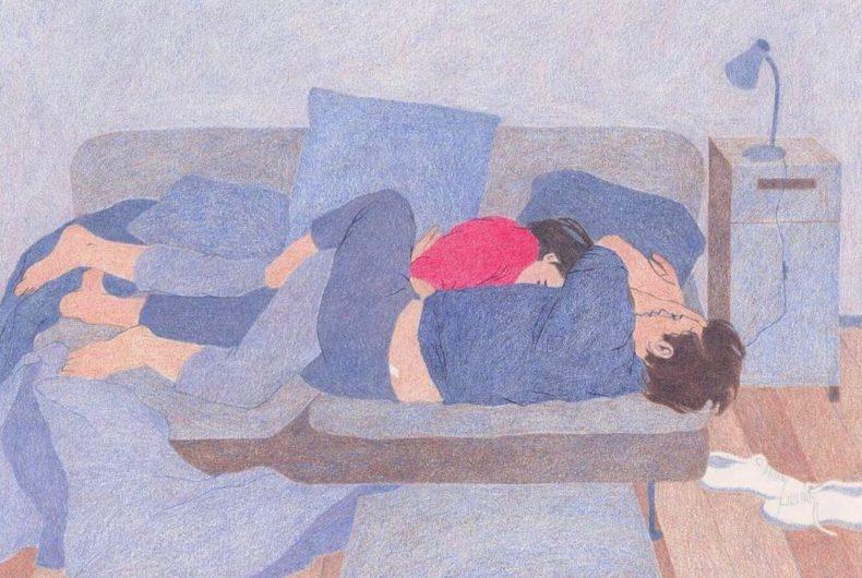Le illustrazioni intime e malinconiche di Camille Deschiens