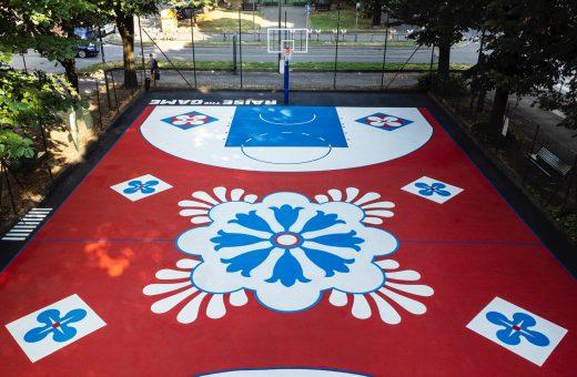 Il nuovo campo da basket realizzato da Davide Barco