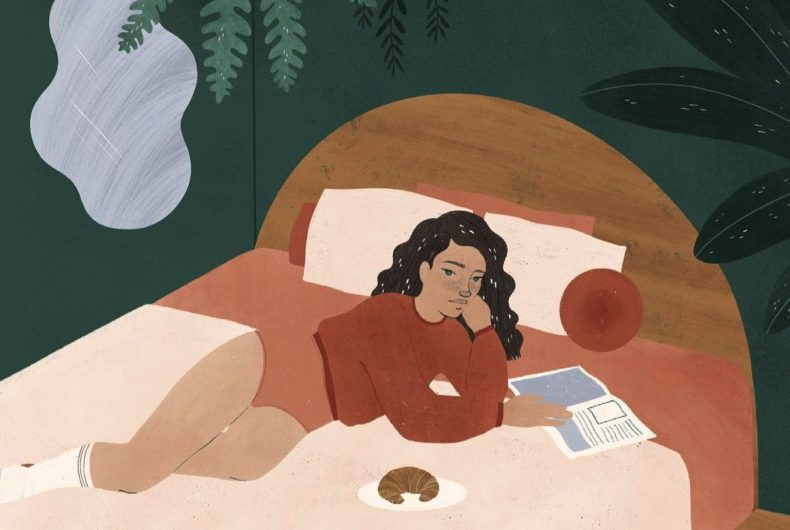 Calm and relaxation in the illustrations by Madeline Martinez