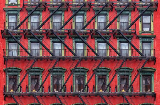 The geometry of architecture in the photographs by Paul Brouns