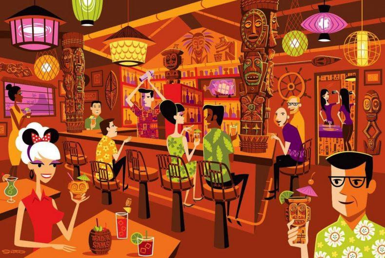 Cultura Tiki e paesaggi californiani nei lavori di Josh Agle aka Shag