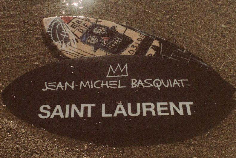 Saint Laurent Rive Droite pays tribute to Jean-Michel Basquiat