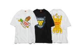 Here are the T-shirts of the collaboration between HUMAN MADE and KAWS