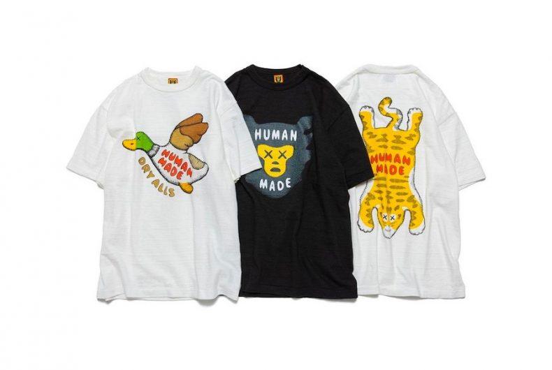 Ecco le T-shirt della collaborazione tra HUMAN MADE e KAWS