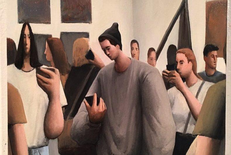 Tony Toscani dipinge la malinconia