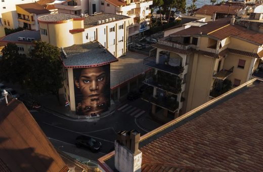 I murales di Jorit, Tony Gallo, Kraser e SteReal a Diamante