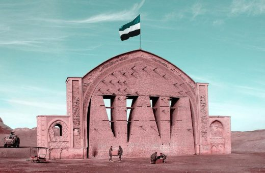 Le bandiere di Mohammad Hassan Forouzanfar per l'Afghanistan