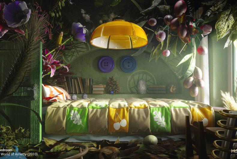 Se gli interni dei film dello Studio Ghibli fossero reali