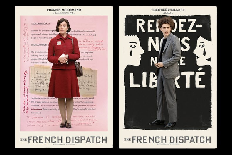 """Sono uscite nuove locandine di """"The French Dispatch"""""""