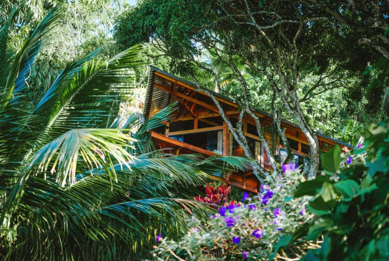 Casa Proa is suspended between the forest and the sea