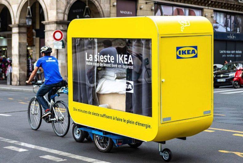 Le capsule di IKEA in cui dormire girando Parigi