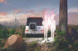 La campagna Sci-Fi della concept car EQG di Mercedes-Benz