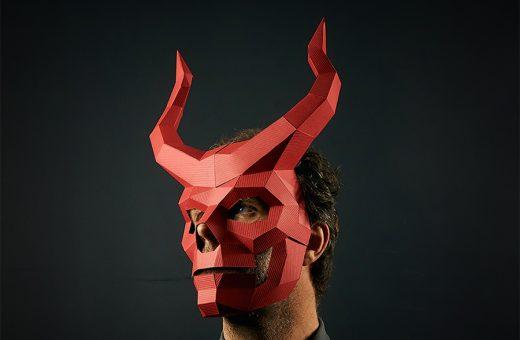 DIY Paper Halloween Masks