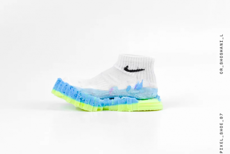 How do you make sneakers out of a sock and polyurethane?
